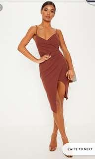 PLT Lauriell Chocolate Brown Wrap