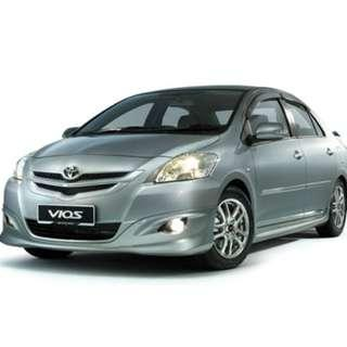Daily/Weekend/Weekly/Monthly Mitsubishi Lancer ,Toyota Altis Vios,Honda Civic( Personal-Grab-Gojek )
