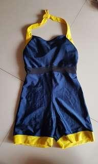 Baju Renang, swimsuit, one piece. Biru