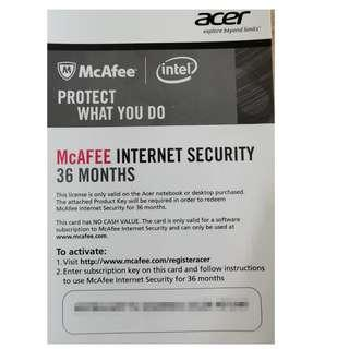 McAfee Internet Security (3years)