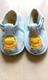 🚚 二手黃色小鴨學步鞋 台灣製