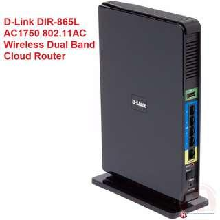🚚 USED D-Link DIR-865L AC1750 802.11AC Wireless Dual Band Cloud Router - NBN Ready Router - Up to 1750Mbps Data Rate When Running Both Channels Simultaneously - 1x WAN & 4x GeE LAN Ports - WLAN 802.11a/b/g/n/ac - USB2.0 (DIR-865L) 802.11ac