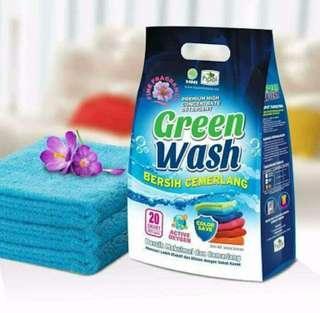 Detergent green wash Hpai