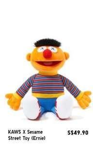 BN Uniqlo Sesame Street kaws - Ernie plush