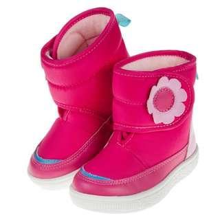 ArnoldPalmer花花桃紅色中筒靴