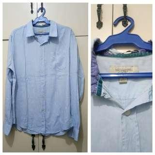 MA216 Heritage Light Blue Long Sleeve Polo - see pics for