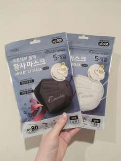 Masker Korea Hitam & Putih