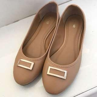 Sepatu Flatshoes Nude Brown