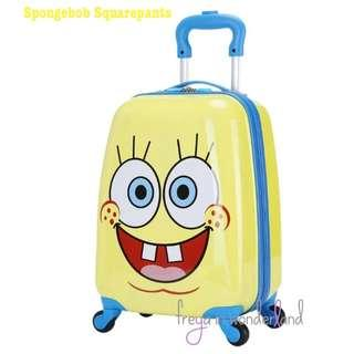"🚚 18"" Spongebob Squarepants Disney Kids Luggage Suitcase Cartoon Design Gift Idea"
