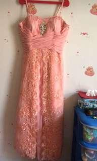 Dress pesta peach ( size XL  )