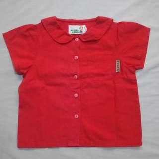 GA114 Croco Kids Red Blouse For Girls - See pics for Measurements