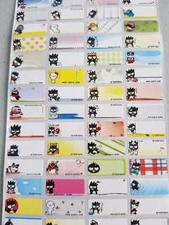 Bad Batz Maru name stickers