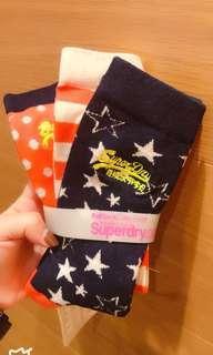 Superdry 三款棉襪組