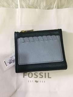 Fossil shelby mini teal wallet
