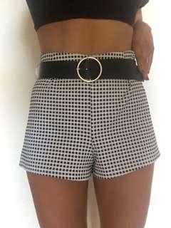 MINKPINK Checked Mini Shorts