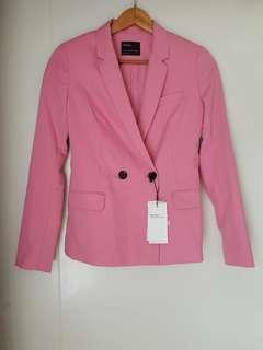 Blazer Bershka Pink Baru Asli Original