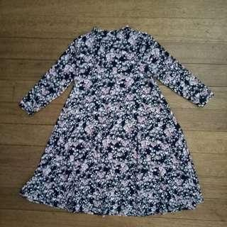 Stretch floral shift dress