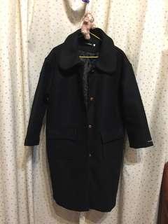 黑色大衣 長版大衣 (僅試穿)
