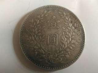 銀幣   重26.9克      厚2.5 mm      直径39.5mm