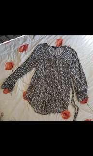Floral long blouse f21