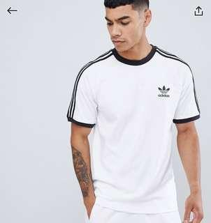 Adidas Orginals adicolor california t-shirt in white cw1203