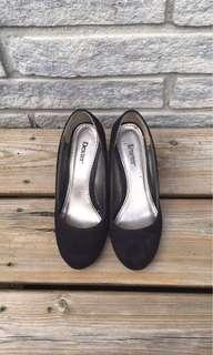 Dexter Wedge Black Heels