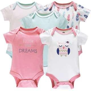 5pcs Baby Girl Romper Set