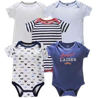 5pcs Baby Boy Romper Set