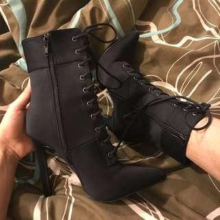 Fashionnova laced booties