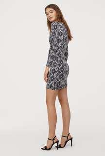 H&M Snakeskin Print Dress
