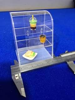 Miniature Clear acrylic display cabinet