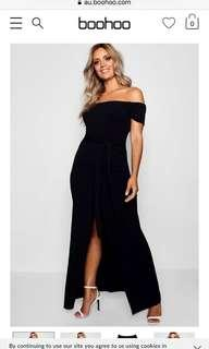 Boohoo Off The Shoulder Belted Maxi Dress 16