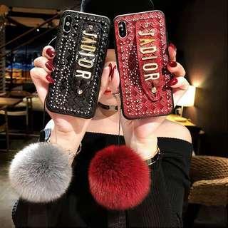 🚚 Dior黑色卯釘個性手機殼iphone x
