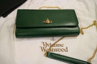 🚚 🌟 VivienneWestwood 斜背手拿 兩用長夾✨