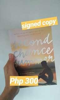 Second Chance Summer by Morgan Matson (SIGNED COPY)