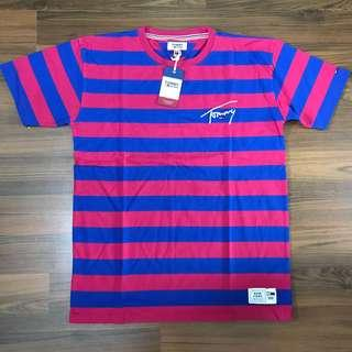 BNWT Tommy Jeans Maroon Stripes Tee (M)