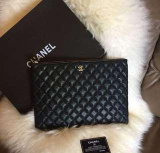 Chanel Case Classic Caviar Pouch Mirror vip