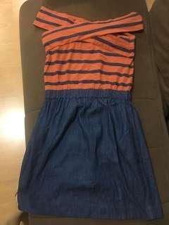 Plains & Prints off shoulder dress