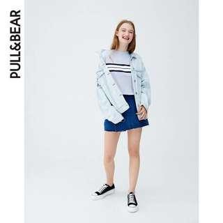 Pull&bear blue stripes tee
