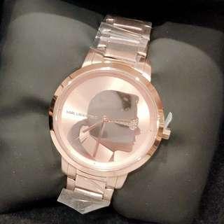🚚 美國帶回Karl Lagerfeld老佛爺肖像玫瑰金錶