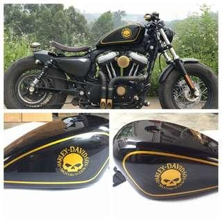 HARLEY FUEL TANK  14L FOR 48