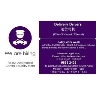 Deliver driver (Class 3 / 4)