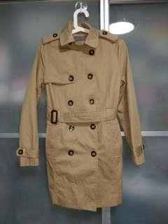 1 x used beige 9 button coat double breasted with free delivery