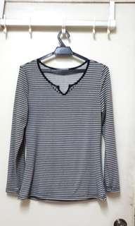 Tops black white pattern