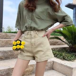 (2Col) High Waist Shorts