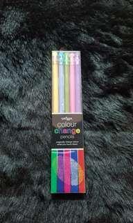 NEW Smiggle Colour Change Pencil Pack 5pcs