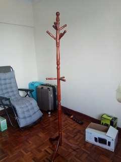 Solid wood coat hanger