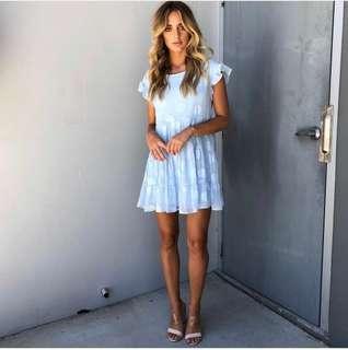 👗Stunning Summer Blue Mini Dress!