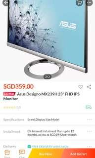 Asus MX239H monitor (fixed price)