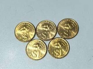 Malaysia 1992 $1 ringgit coin - BU